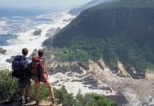 backpacking tourist south africa