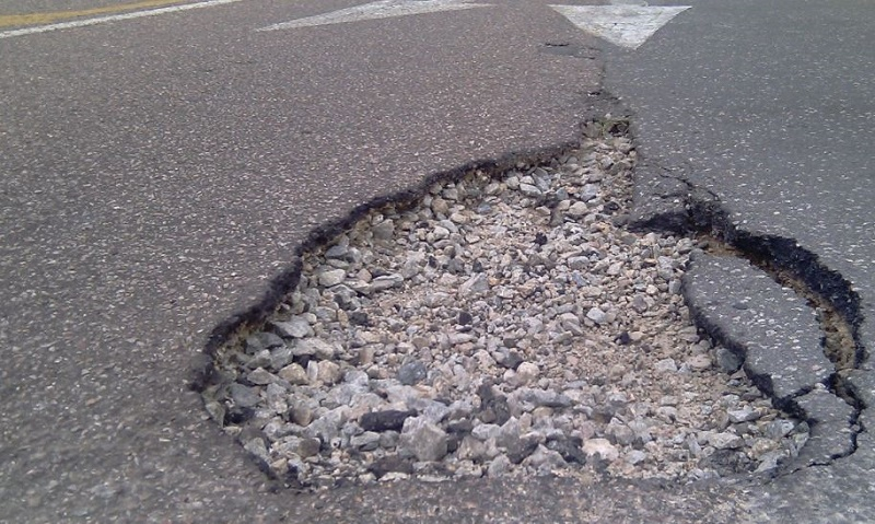 Potholes in South Africa