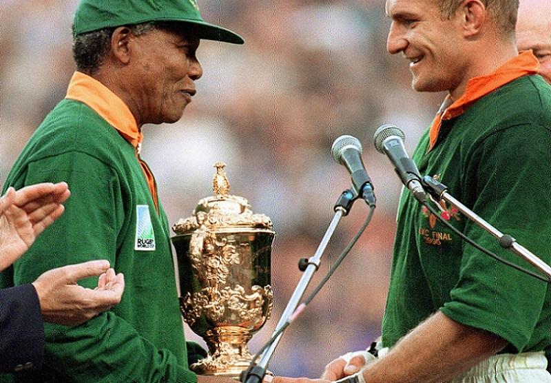 rugby in south africa nelson mandela francois pienaar
