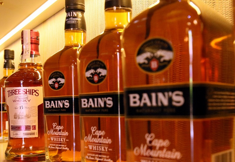 local whisky Bains and Three Ships