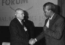 FW de Klerk Nelson Mandela