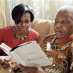 Michelle Obama pays visit to Mandela