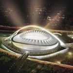 Durban stadium's iconic arch complete