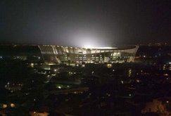 Lights on for Green Point Stadium
