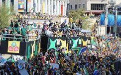 South Africa's World Cup flows over