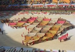 World Cup off to colourful start