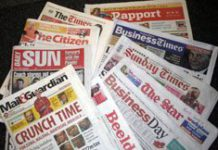 The press in South Africa