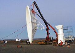 KAT-7 telescope gets first antenna