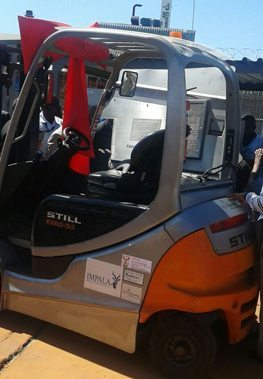 South Africa's first hydrogen fuel cell forklift