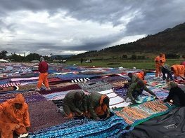 67 Blankets for Mandela claims a world record