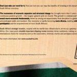 Brand SA ads in Economist top 10