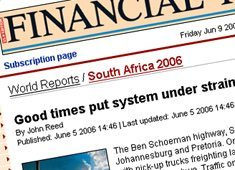 Good times in SA: Financial Times