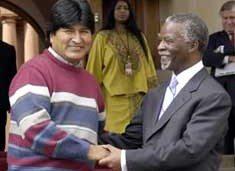 Bolivia asks for SA's advice