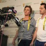 South African couple back home at last