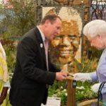 Mandela medallion for Queen at Chelsea Flower Show