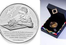 Coins pay tribute to Mandela the lifelong learner