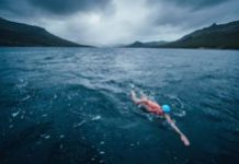 Lewis Pugh in 'world's most dangerous swim'
