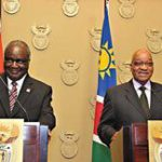 Namibian president visits South Africa