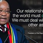 Who is South Africa sending to Davos?