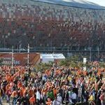 Dutch fans paint Centurion 'Oranje'
