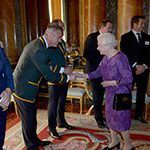 Springboks meet the queen