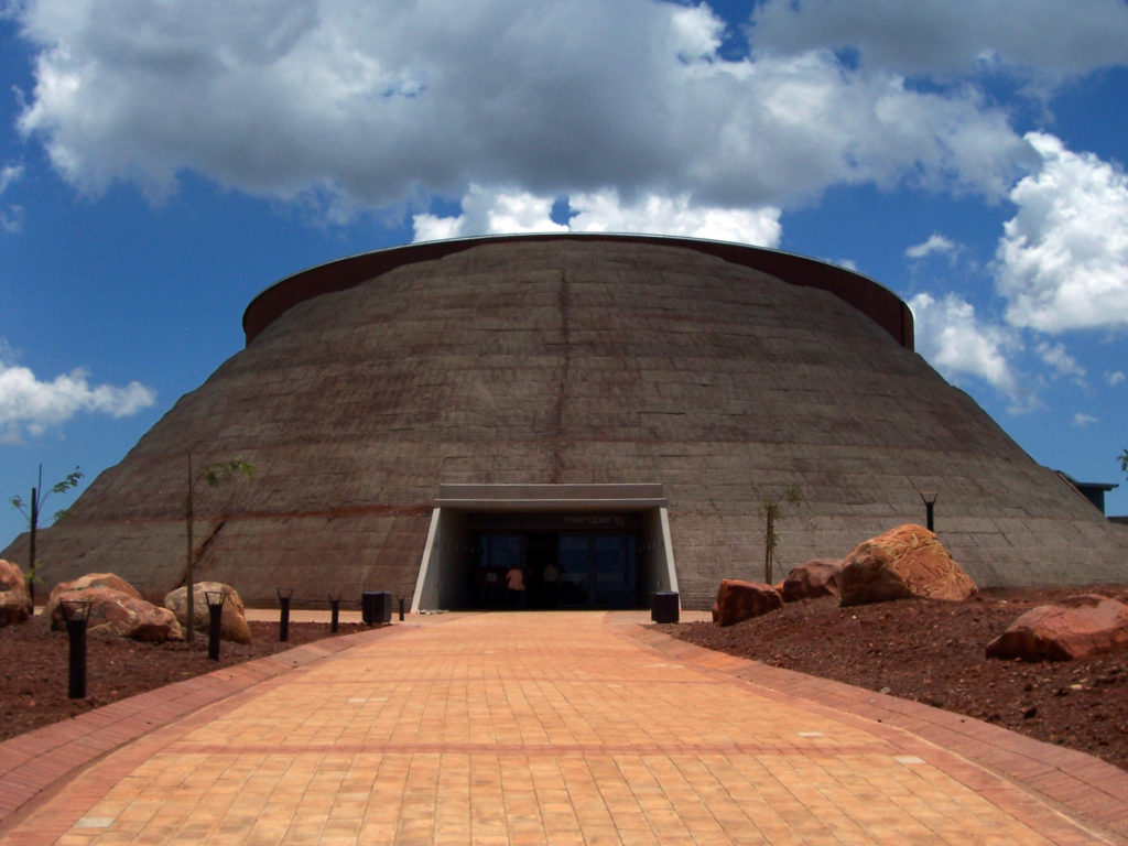 Front view of the state-of-the-art Maropeng visitors' centre at the Cradle of Humankind World Heritage Site
