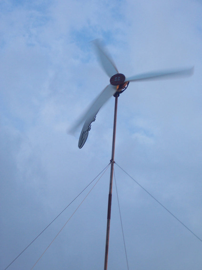 A home-made wind turbine on a smallholding in the Magaliesburg region
