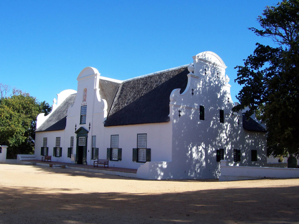 The manor house at Groot Constantia