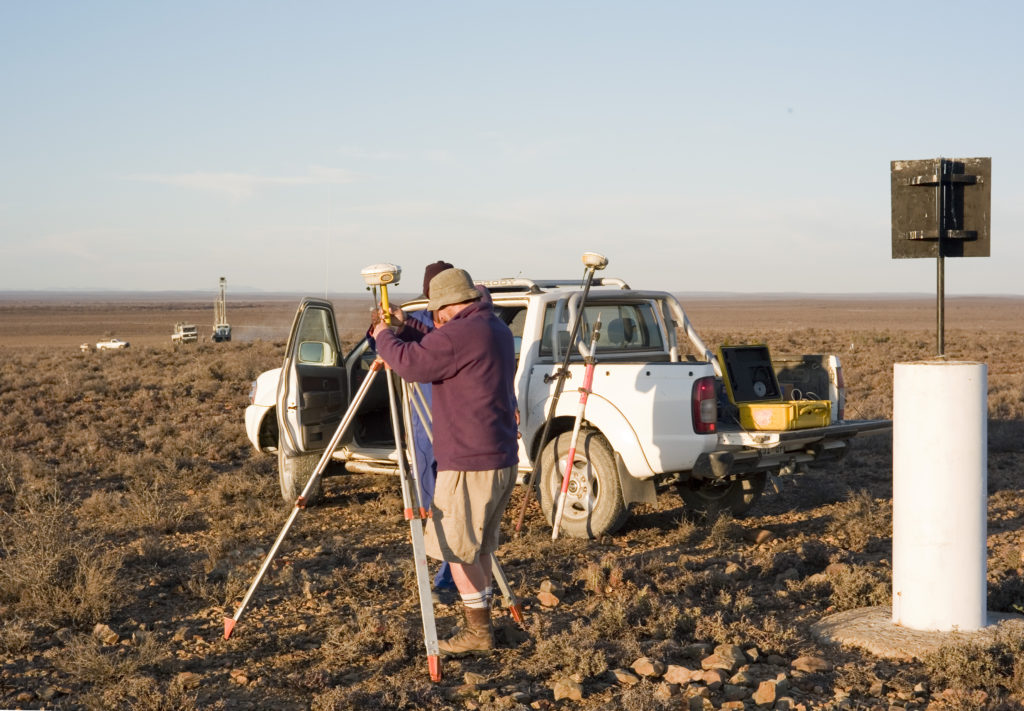 Prospecting operations - Beaufort West. Western Cape  South Africa