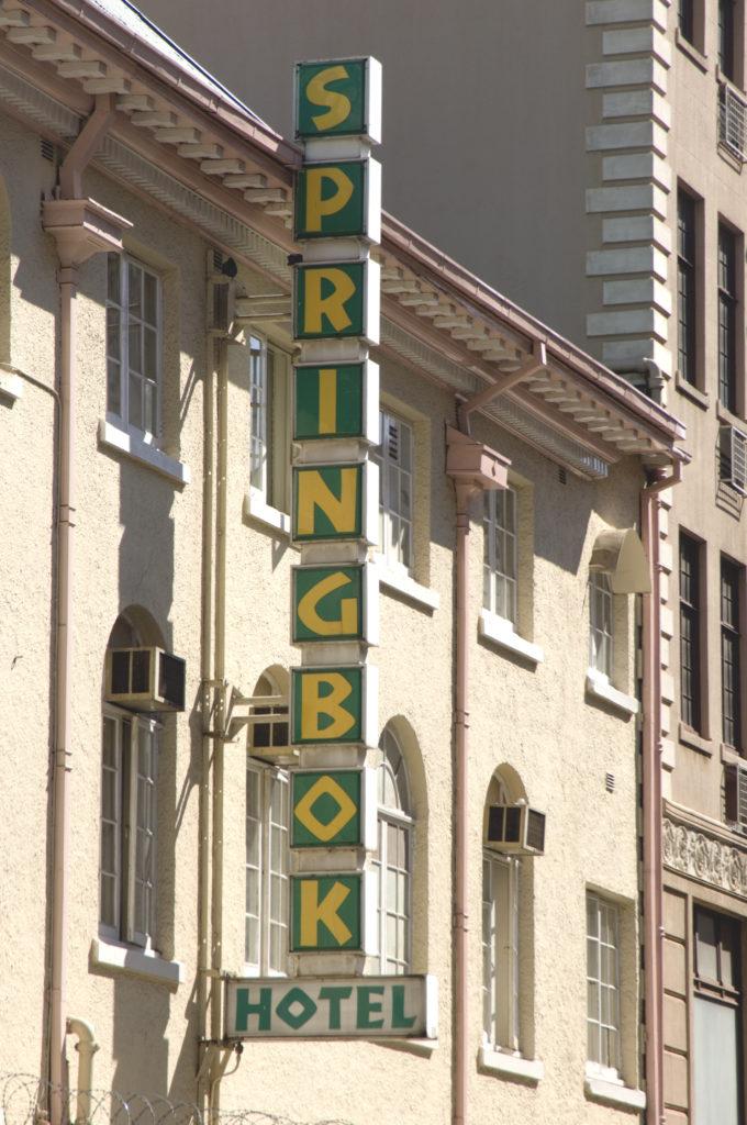 The Springbok Hotel in the city centre