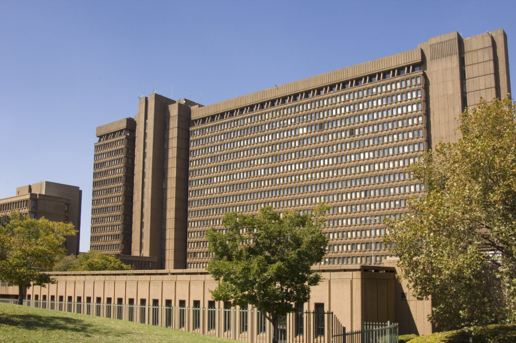 The Civic Centre in Braamfontein is the headquarters of the Johannesburg City Council