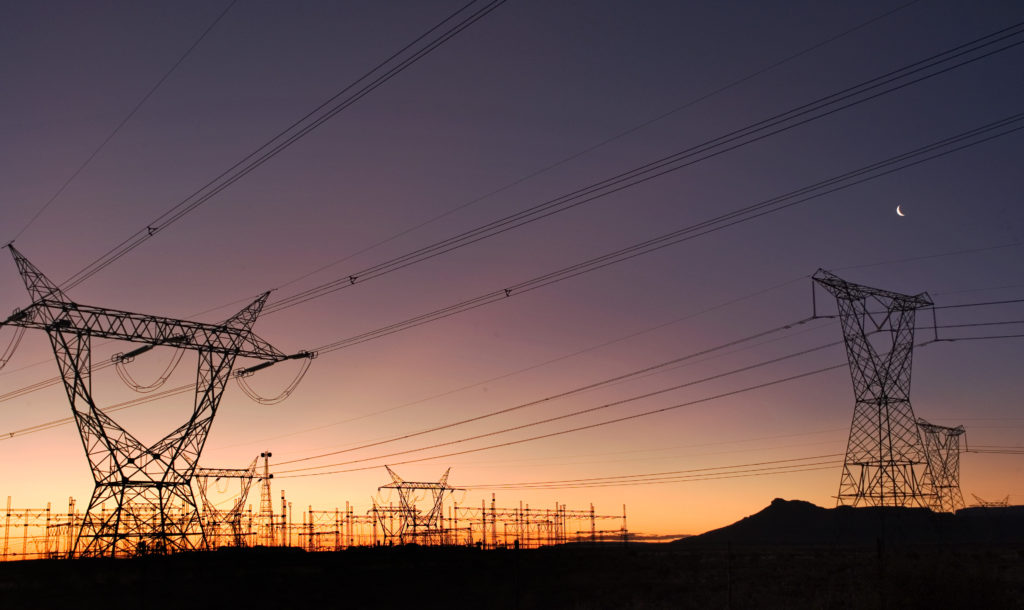 Beaufort West, Western Cape province: Electricity pylons