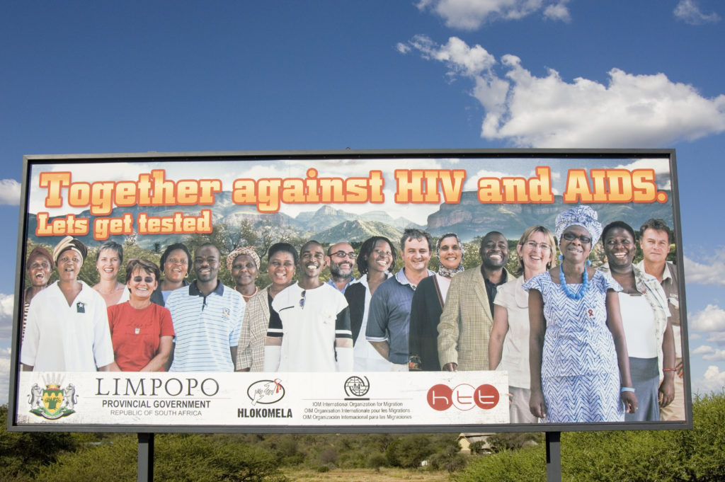 Hoedspruit, Limpopo province: An HIV/Aids education billboard