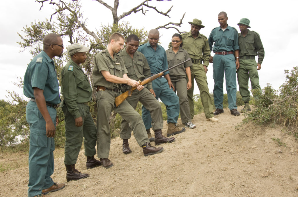 Students attending the certificate in natural resource management course at the Southern African Wildlife College