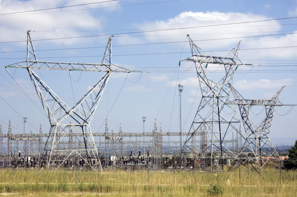 Hoedspruit, Limpopo province: Power lines and substation