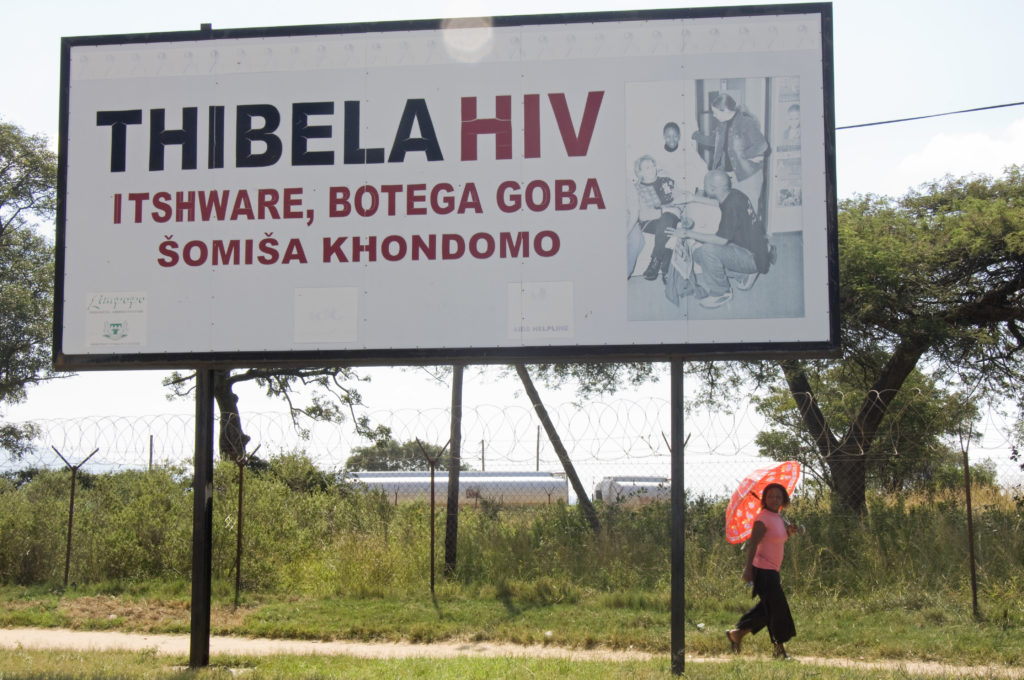 Hoedspruit, Limpopo province: An HIV/Aids awareness billboard
