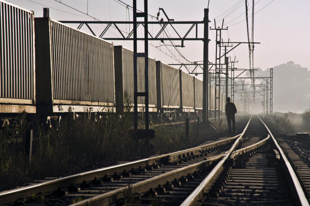 Rail depot in Alrode, Johannesburg, Gauteng province