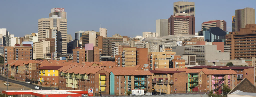 Johannesburg, Gauteng province: A view of the city centre