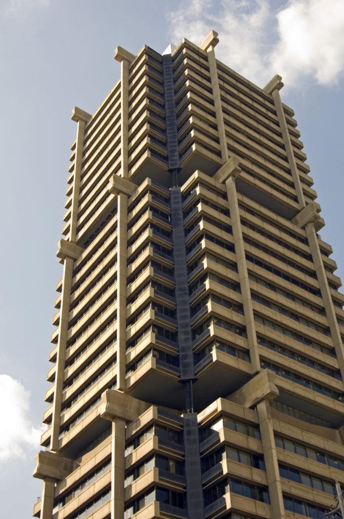 Skyscraper on Main Street, city centre