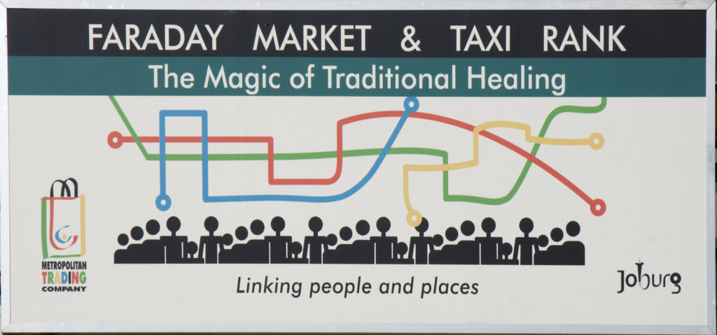Faraday market and taxi rank. Johannesburg