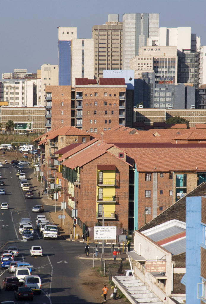 Johannesburg, Gauteng province: The Brickfields housing project in Newtown