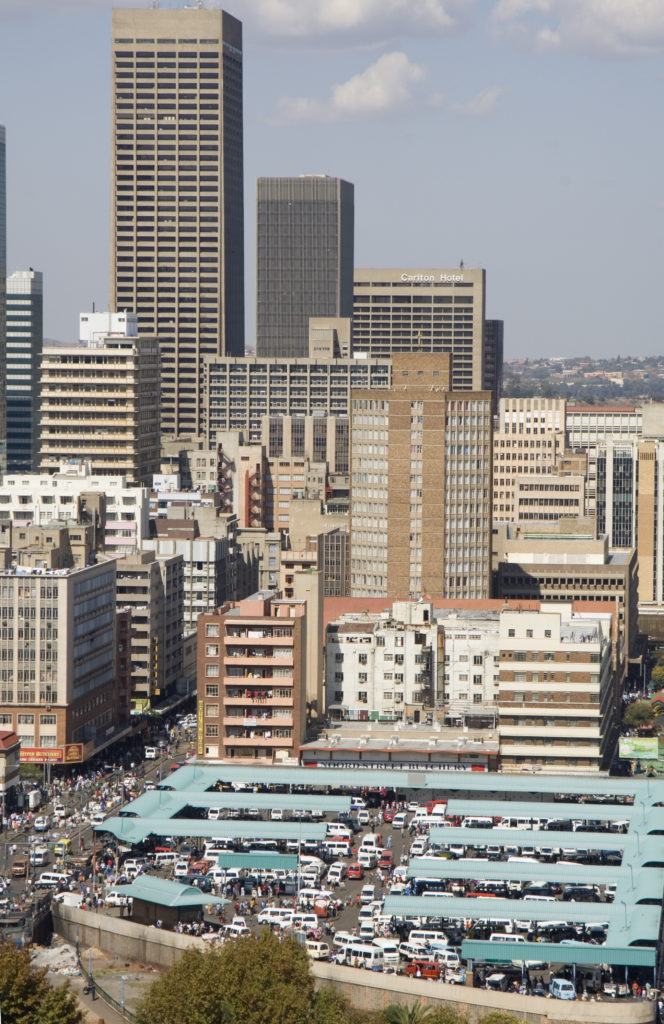 Noord street taxi rank. Johannesburg