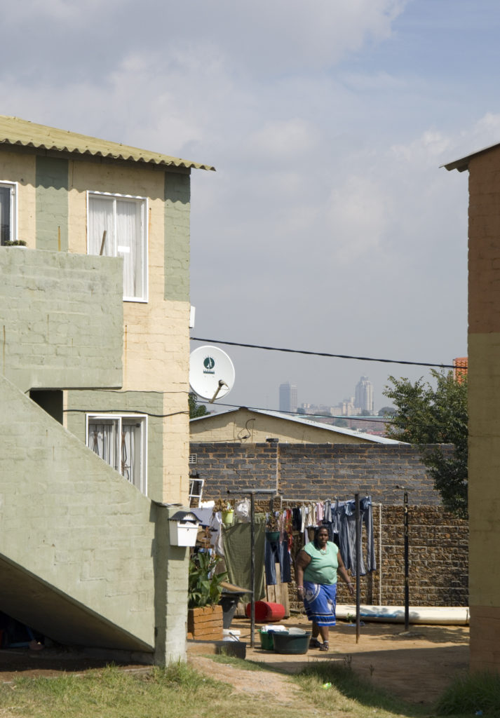 Two storey walkup housing project - East Bank Alexandra, Johannesburg
