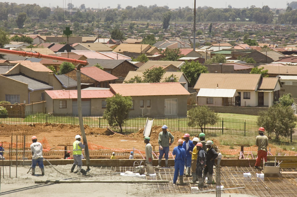 Construction work on new Natalspruit Hospital in Vosloorus, Johannesburg