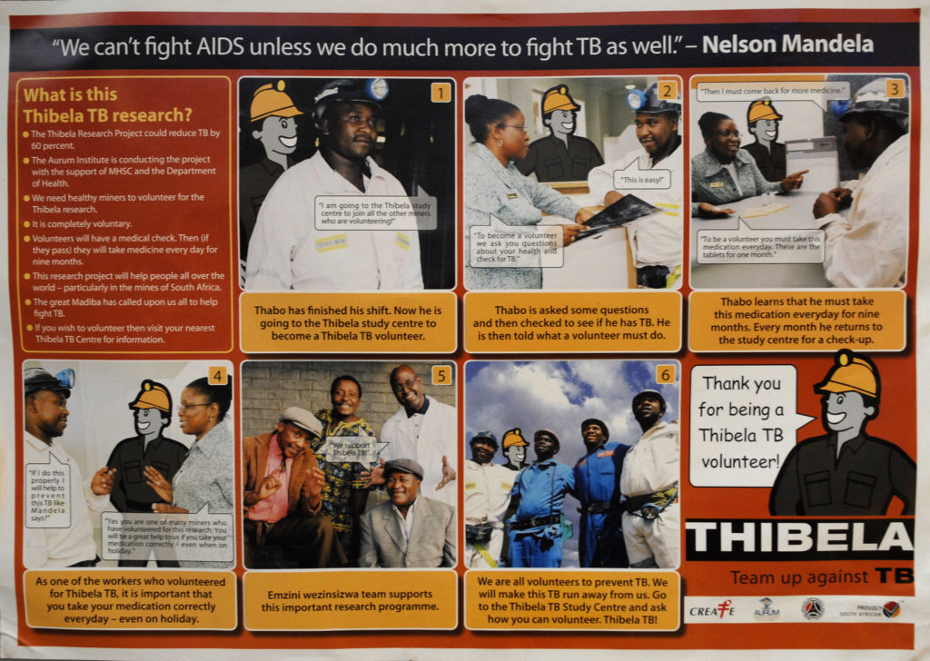 Welkom, Free State: A tuberculosis awareness poster