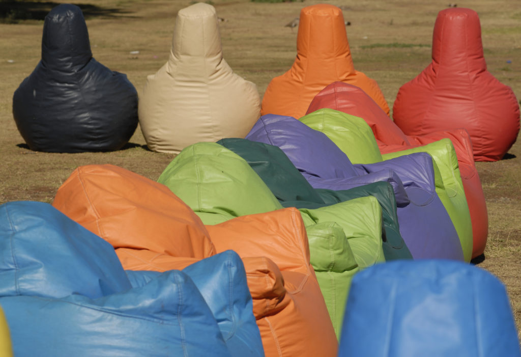 Welkom, Free State province: Colourful foam chairs