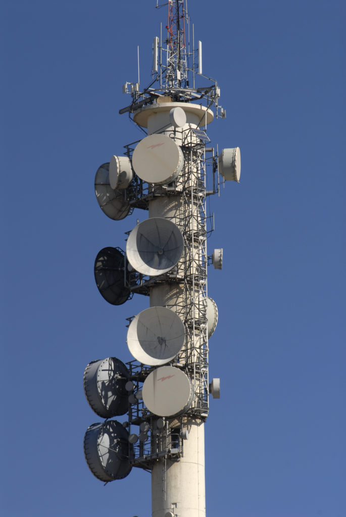 Welkom, Free State province: The town's microwave tower