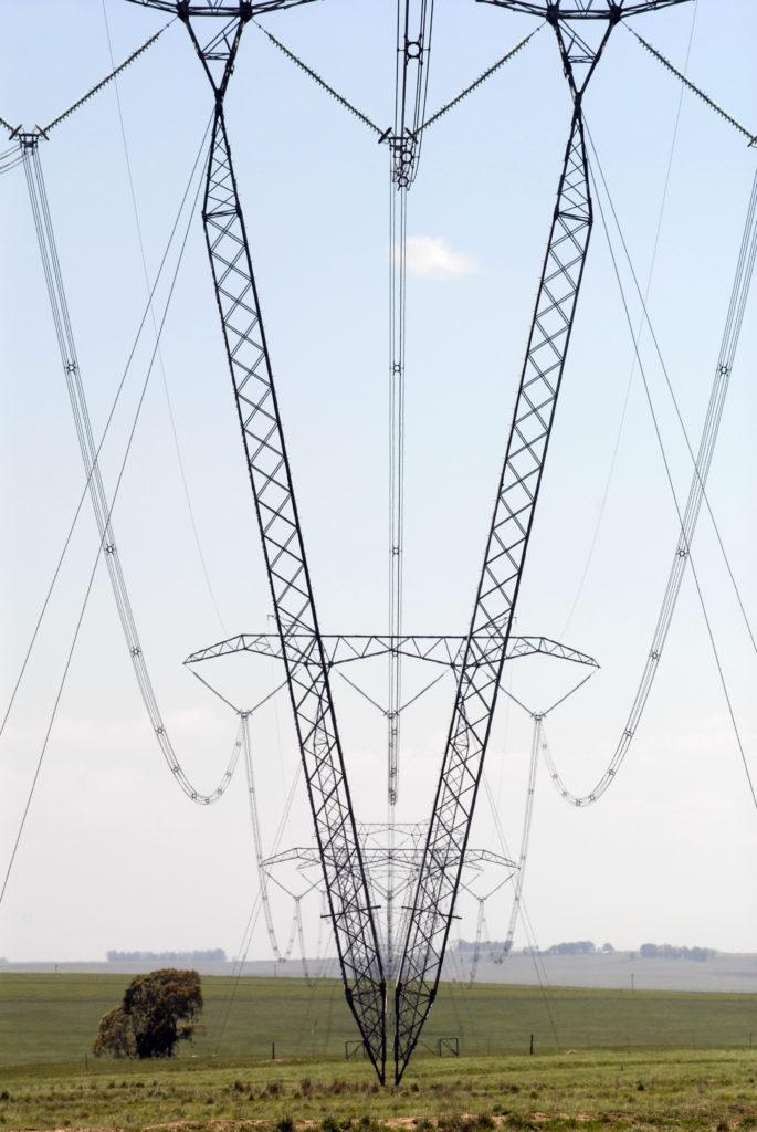 KwaZulu-Natal province: Electricity pylons