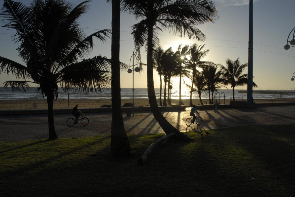 Durban, KwaZulu-Natal province: Sunrise on the beachfront