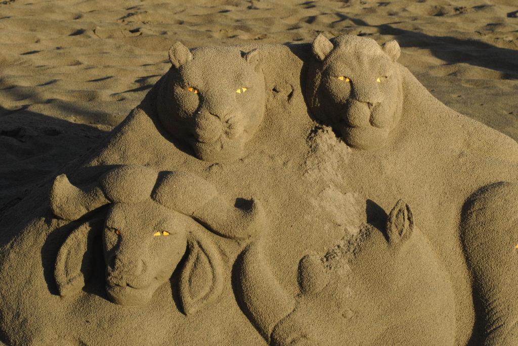 Durban, KwaZulu-Natal province: Sand sculptures on the beach